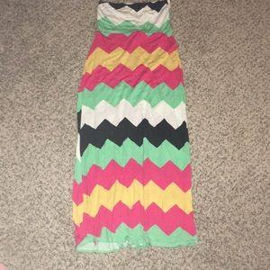 Windsor chevron maxi skirt